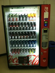 Coke machine in Law Library copyroom