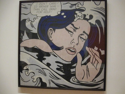 """Drowning Girl"" by Roy Lichtenstein"