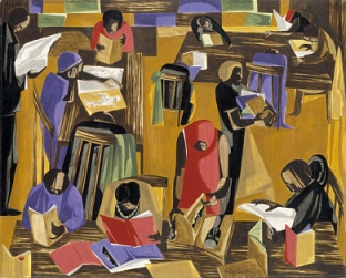 TheLibrary_1960_JacobLawrence