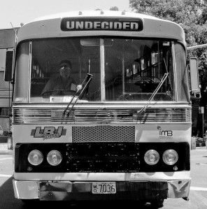 Bus with destination of Undecided