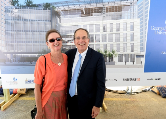 Former Director Nancy Johnson and Dean Steve Kaminshine @ Groundbreaking Ceremony