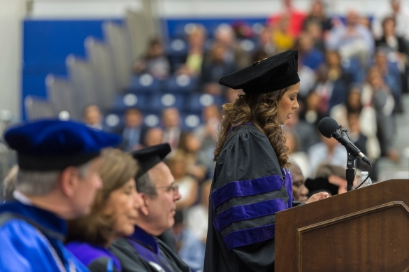 A speaker from the 2015 GSU Law Commencement