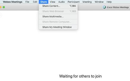 Sharing Screen
