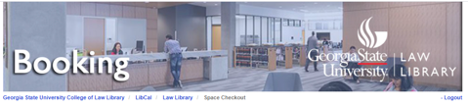 screen shot of the banner on the room booking page